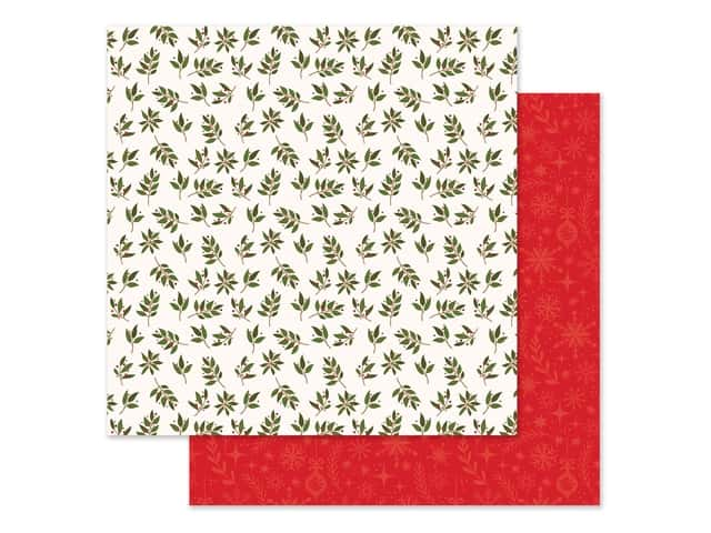 Echo Park Collection My Favorite Christmas Paper 12 in. x 12 in. Peace Joy Love