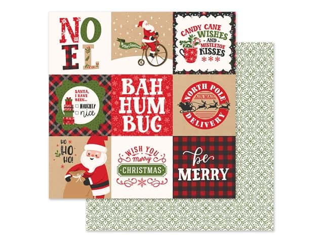 Echo Park Collection My Favorite Christmas Paper 12 in. x 12 in. Journaling Cards 4 in. x 4 in.