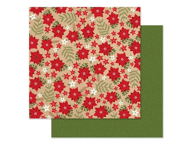 Echo Park Collection My Favorite Christmas Paper 12 in. x 12 in. Holiday Floral