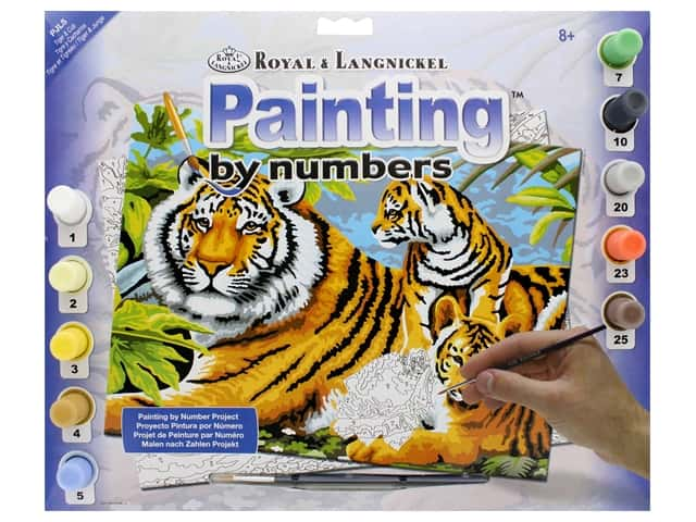 Royal Paint By Number Junior Large Tiger & Cubs