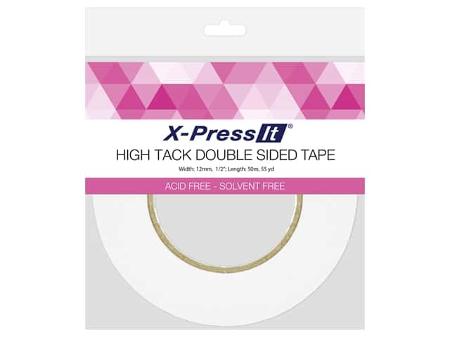 X-Press it High Tack Double Sided Tape 1/2 in. x 55 yd