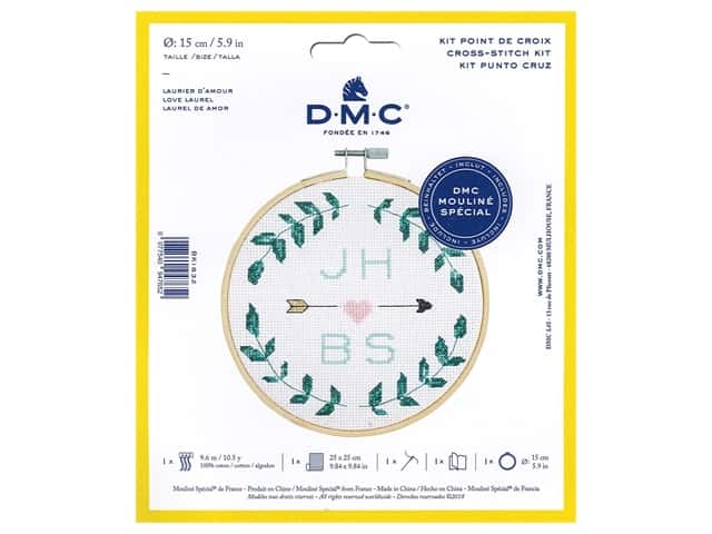 DMC Counted Cross Stitch Kit Love Laurel