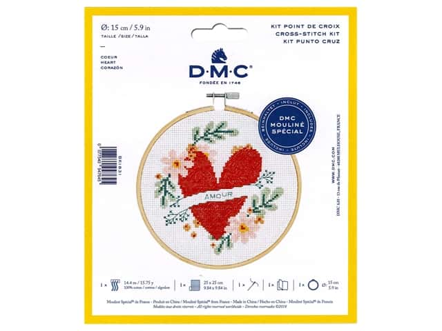 DMC Counted Cross Stitch Kit Heart