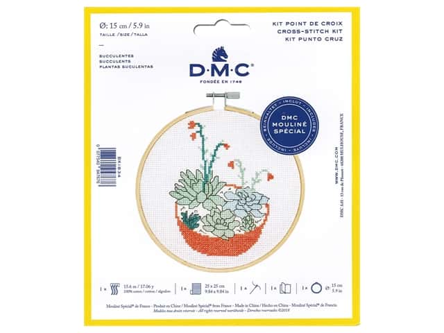 DMC Counted Cross Stitch Kit Succulent