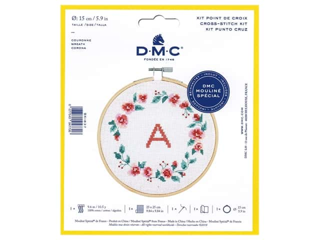 DMC Counted Cross Stitch Kit Wreath