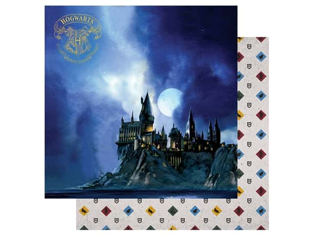 Paper House Paper 12 in. x 12 in. Warner Bros Harry Potter Hogwarts At Night