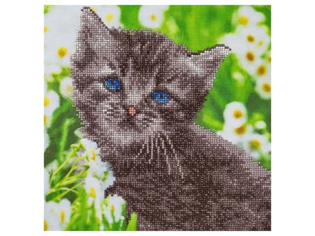Diamond Art Kit 12 in. x 12 in. Intermediate Kitten
