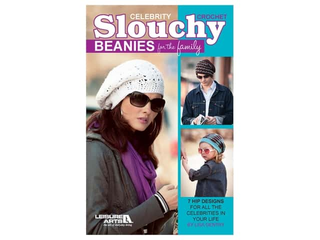 Leisure Arts Crochet Celebrity Slouchy Beanies Book