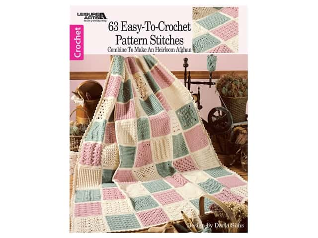 63 Easy-To-Crochet Pattern Stitches Book