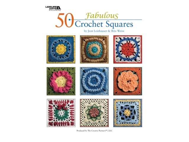 Leisure Arts 50 Fabulous Crochet Squares Book