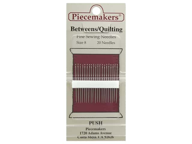 Piecemakers Needles Betweens/Quilting Size 8 20 pc