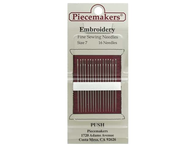 Piecemakers Needles Embroidery Size 7 26 pc