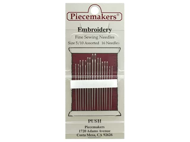 Piecemakers Needles Embroidery Size 5/10 16 pc