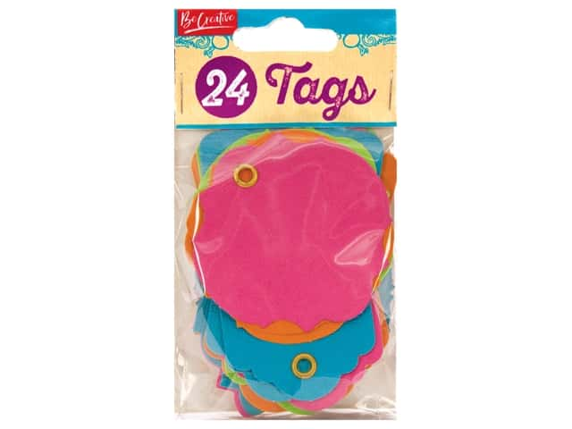 Leisure Arts Scrap Tag 24 pc Bright