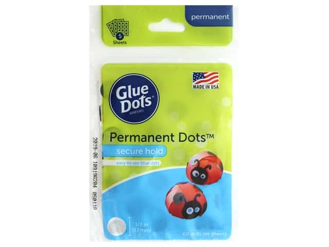 Glue Dots Permanent Sheet 1/2 in. 60 pc.