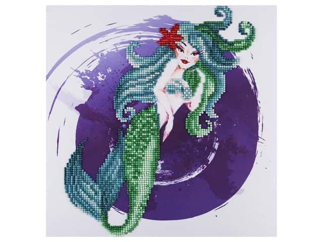 Diamond Art Kit 12 in. x 12 in. Intermediate Mermaid
