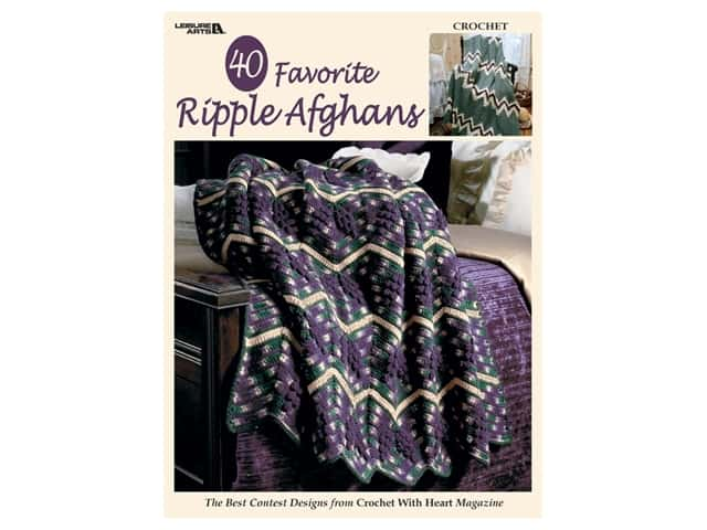 Leisure Arts 40 Favorite Ripple Afghans Book