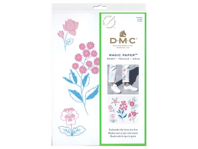 DMC Magic Paper Embroidery Flowers 1 pc