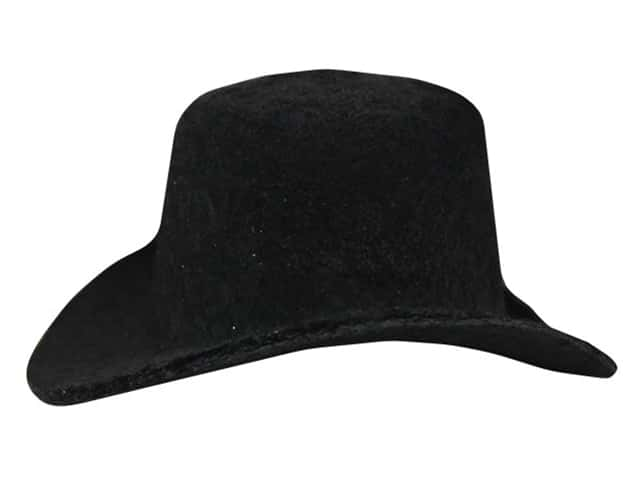 Darice Top Hat Felt Black 2 in.
