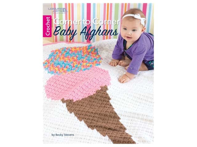 Leisure Arts Corner To Corner Baby Afghan Crochet Book