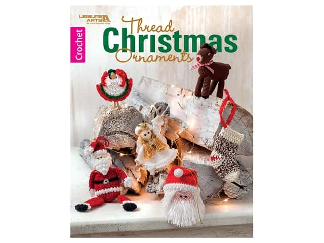 Leisure Arts Thread Christmas Ornaments Crochet Book