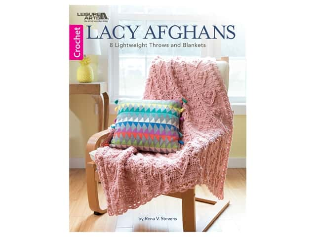 Leisure Arts Lacy Afghans Crochet Book