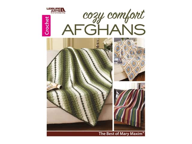 Leisure Arts Cozy Comfort Afghans Crochet Book