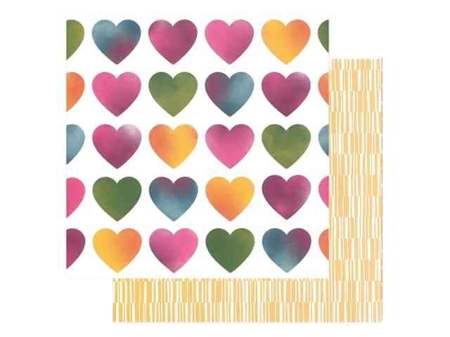 American Crafts Amy Tangerine 12 x 12 in. Paper Slice Of Life Love Always