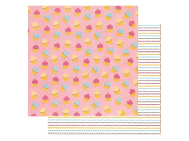American Crafts Amy Tangerine 12 x 12 in. Paper Slice Of Life My Cupcake