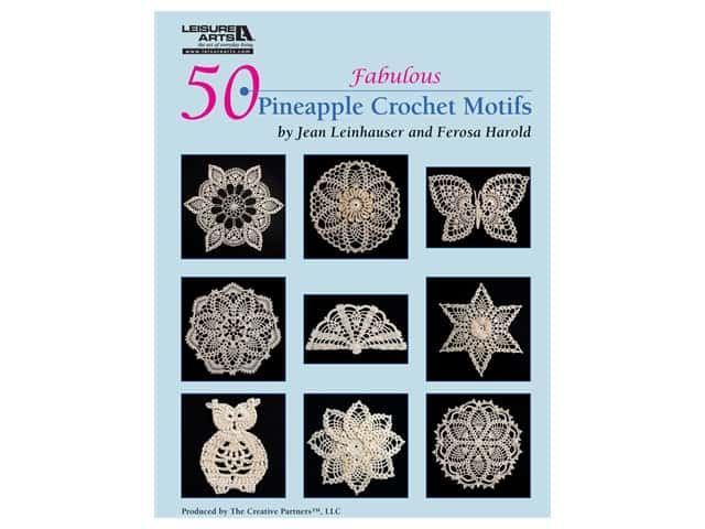 50 Fabulous Pineapple Crochet Motifs Book