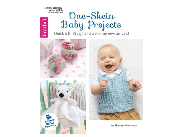 Leisure Arts One Skein Baby Projects Crochet Book
