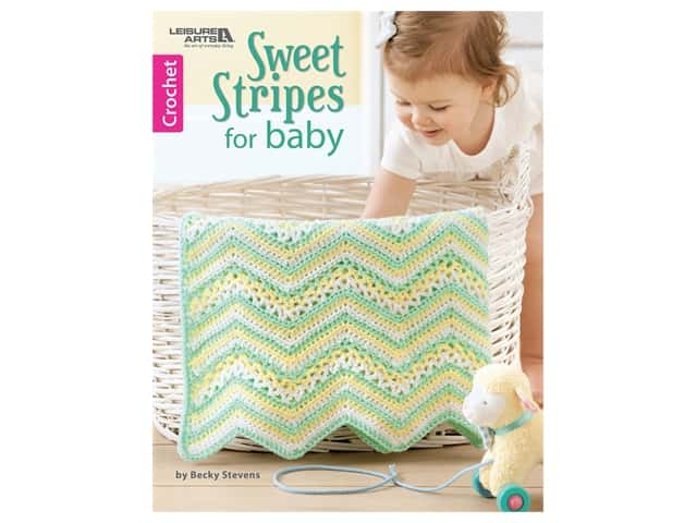Leisure Arts Sweet Stripes For Baby Crochet Book