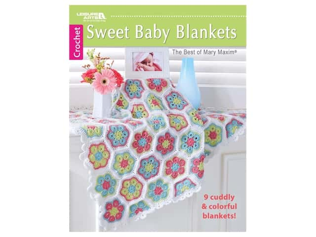 Leisure Arts Sweet Baby Blankets Crochet Book
