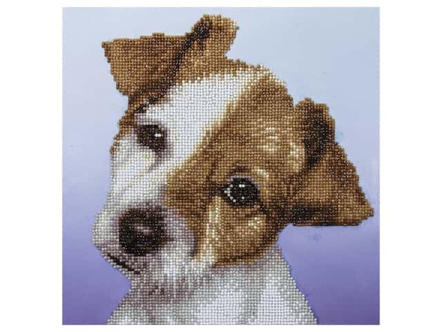 Diamond Art Kit 12 in. x 12 in. Intermediate Puppy