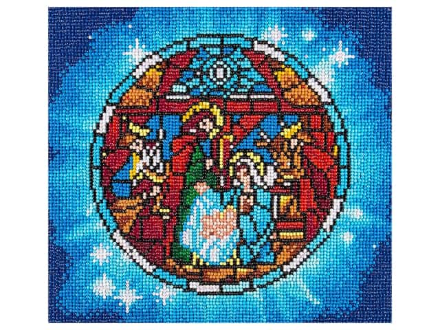Diamond Art Kit 12 in. x 12 in. Full Drill Holiday Nativity