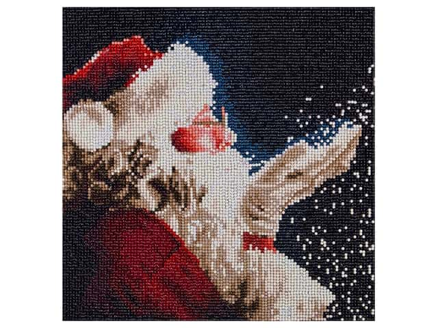 Diamond Art Kit 12 in. x 12 in. Full Drill Holiday Santa