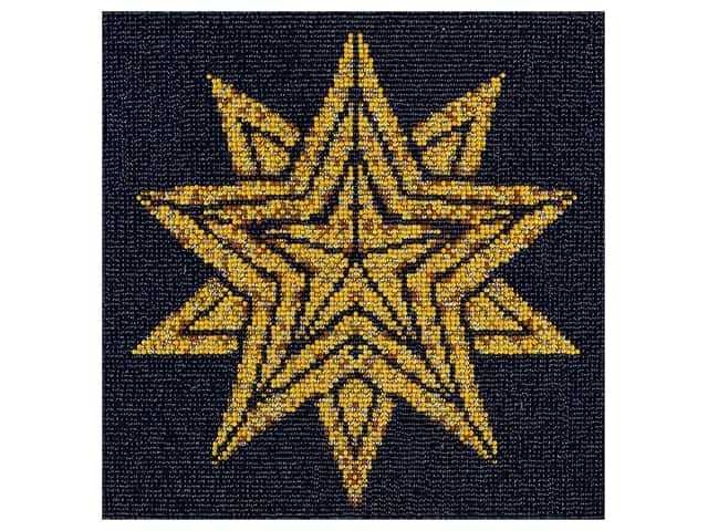 Diamond Art Kit 12 in. x 12 in. Full Drill Holiday Star