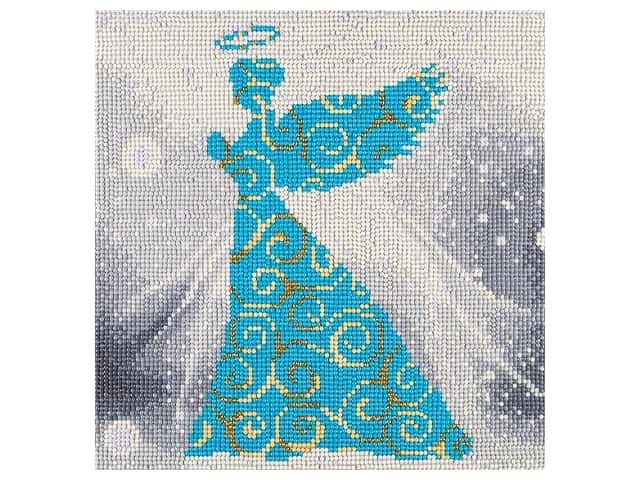 Diamond Art Kit 12 in. x 12 in. Full Drill Holiday Angel