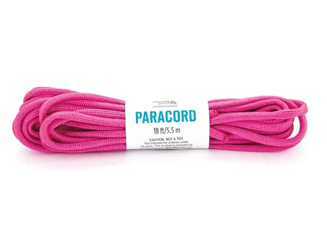 Leisure Arts Paracord Pink 18 ft