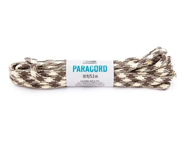 Leisure Arts Paracord Tan/Brown 18 ft
