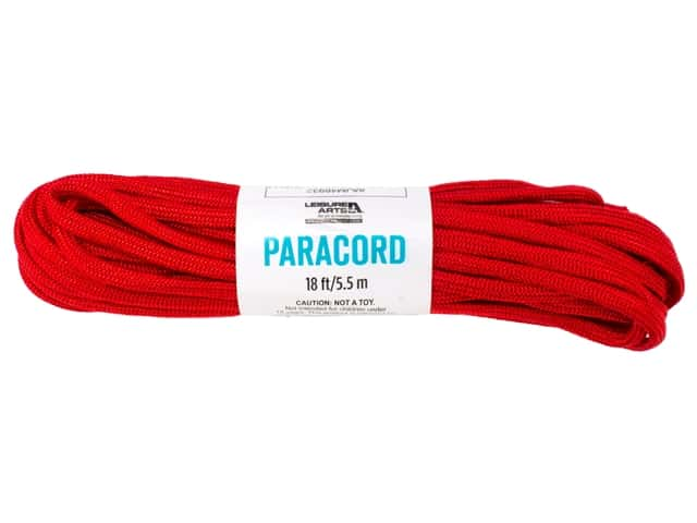 Leisure Arts Paracord Red 18 ft