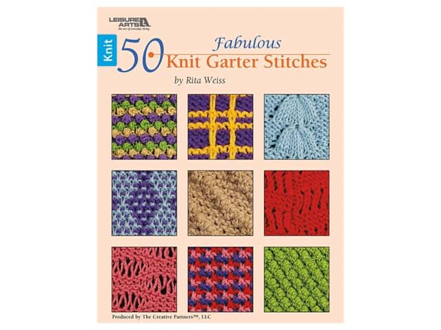 Leisure Arts 50 Fabulous Knit Garter Stitches Book