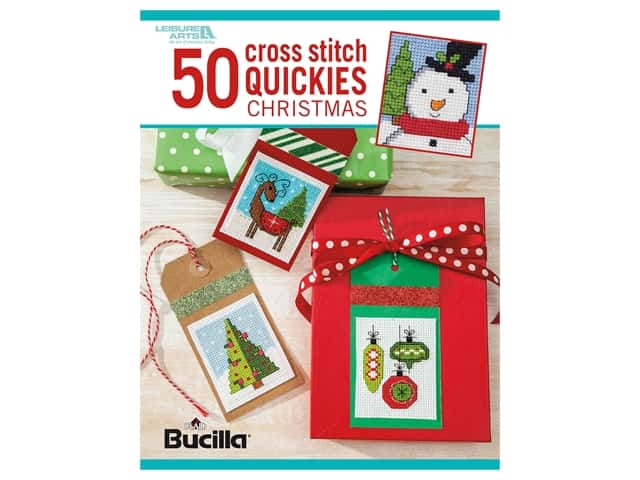 Leisure Arts 50 Cross Stitch Quickies Christmas Book