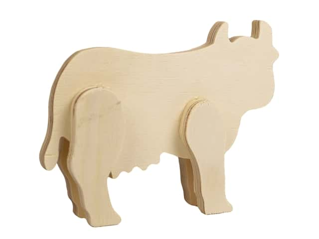 Multicraft Wood Standing Animal Cow