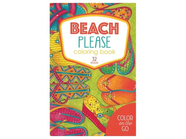 Leisure Arts Color On The Go Beach Please Coloring Book