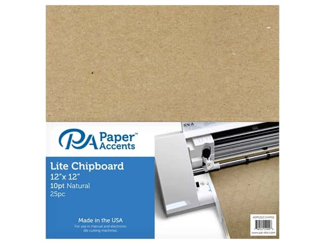 "Paper Accents Chipboard 12""x 12"" Thin 10pt 25pc Natural"