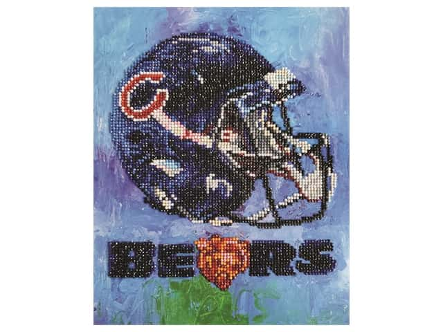 Diamond Art Kit 10 in. x 12 in. Intermediate NFL Team Chicago Bears