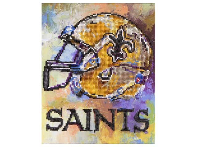 Diamond Art Kit 10 in. x 12 in. Intermediate NFL Team New Orleans Saints