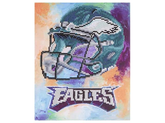 "Diamond Art Kit 10""x 12"" Intermediate NFL Team Philadelphia Eagles"