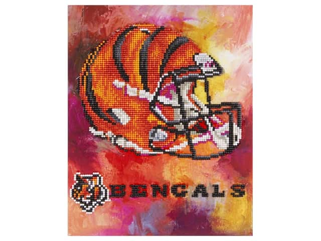 Diamond Art Kit 10 in. x 12 in. Intermediate NFL Team Cincinnati Bengals